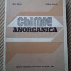 Chimie anorganica Ioan Grecu Teodor Goina 1982 carte stiinta - Carte Chimie