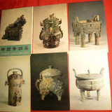 Carnet cu 9 Ilustrate China - Bronzuri antice -ed. 1976