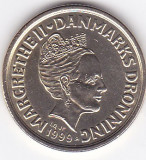 Moneda Danemarca 20 Kroner 1999 - KM#878 aUNC