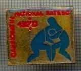 189 INSIGNA -CAMPIONATUL  NATIONAL SATESC 1970 -LUPTE -starea care se vede