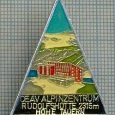 159 INSIGNA -turism montan -OEAV ALPINZENTRUM -RUDOLFSHOTTE 2315 m -HOHE TAUERN-starea care se vede