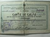 CARTE DE CALFA - EMISA DE COMITETUL BRESLEI - ANUL 1926 - JUD PRAHOVA
