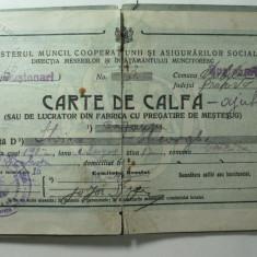 CARTE DE CALFA - EMISA DE COMITETUL BRESLEI - ANUL 1926 - JUD PRAHOVA - Diploma/Certificat