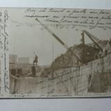 RUSCHITA - CARIERA DE MARMORA ANUL 1915 - CONFORM CORESPONDENTEI SCRISE PE FATA ILUSTRATEI ,MACARAUA DIN IMAGINE RIDICA LA ACEA VREME ,15000 KG