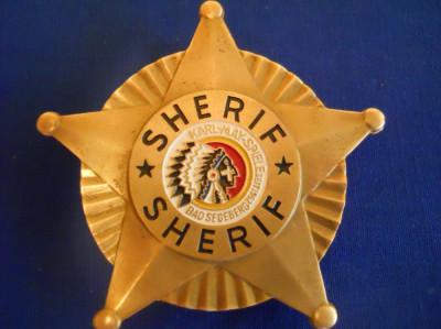 Insigna SHERIF ( KARL-MAY-SPIELE 1952 ) foto