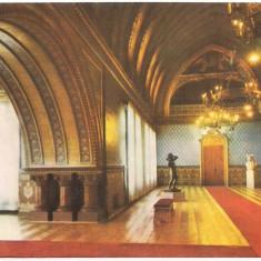 Carte postala(ilustrata)-IASI-Interior din Palatul Culturii - Carte Postala Moldova dupa 1918, Circulata, Printata