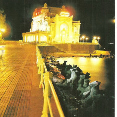 CPI (B1276) CONSTANTA, RESTAURANTUL CAZINO, EDITURA MERIDIANE, CIRCULATA 08.08.82. STAMPILA, TIMBRU - Carte Postala Dobrogea dupa 1918, Fotografie