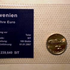 5.303 SLOVENIA SET 2 MONEDE UNC IN FOLDER 1T 2000, 1 EUROCENT 2007, Europa