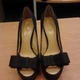 Pantofi de ocazie - Pantof dama, Culoare: Negru, Marime: 36, Negru, Cu toc