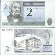 ESTONIA- 2 KROONI 2007- UNC!!