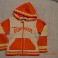 Pulover portocaliu cu gluga, Culoare: Multicolor