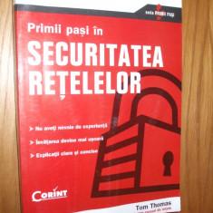 Primi pasi in SECURITATEA RETELELOR -- T. Thomas -- [ 2005, 451p. ] - Carte sisteme operare