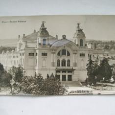 C.P.CLUJ-TEATRUL NATIONAL - Carte Postala Transilvania 1904-1918, Circulata