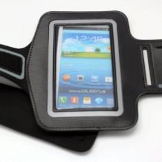 Husa samsung galaxy S3, S4, S5 fixare brat pentru jogging - Husa Telefon Samsung, Negru, Piele Ecologica