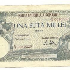 ROMANIA BANCNOTA 100.000 LEI MAI 1946
