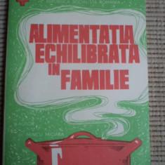 Alimentatia echilibrata in familie societatea de cruce rosie RPR epoca de aur - Carte Alimentatie