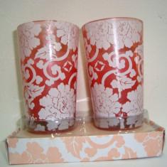 Set 2 Lumanari parfumate in pahar model Pretty mov - h 8 cm, diam 4 cm - Lumanare parfumata
