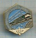 292 INSIGNA - transport feroviar - locomotiva electrica - URSS -scriere chirilica -starea care se vede