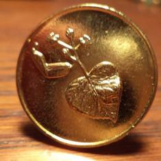 Inel hand made din jeton slovac aurit, Marime: Alta