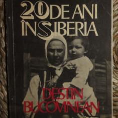 Anita Nandris-Cudla 20 DE ANI IN SIBERIA Destin Bucovinean Ed. Humanitas 1991 prima editie - Biografie