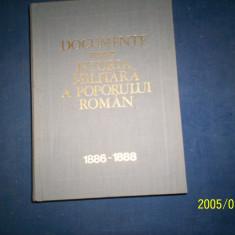 DOCUMENTE PRIVIND ISTORIA MILITARA A POPORULUI ROMAN 1886-1888