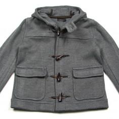 Palton / Geaca gri Zara Man cu gluga - masura M (Medium) - NOUA CU ETICHETA ! Pret magazin Anglia £60 ! - Palton barbati Zara, Marime: M, M, Lana