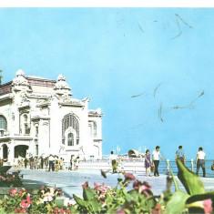 CPI (B1531) CONSTANTA, RESTAURANTUL CAZINO, EDITURA MERIDIANE, CIRCULATA 14.7.74, STAMPILE, TIMBRU - Carte Postala Dobrogea dupa 1918, Fotografie