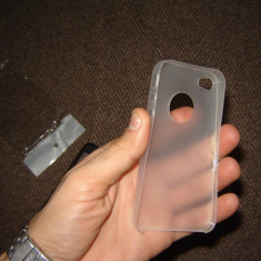 Capace huse iPhone 4G sau 4S model subtire ultrathin + folie protectie fata si spate CADOU - Husa Telefon Akella