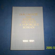 DOCUMENTE PRIVIND ISTORIA MILITARA A POPORULUI ROMAN 1888-1891