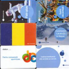 Cartele telefonice romanesti uzate lot de 10 bucati - Cartela telefonica romaneasca