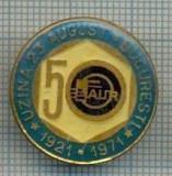 432 INSIGNA  - 50(ani) FAUR -UZINA 23 AUGUST BUCURESTI 1921-1971 -starea care se vede