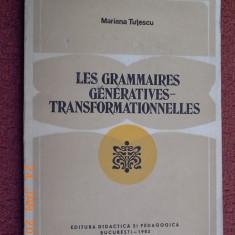 Les grammaires generatives-transformationnelles - Mariana Tutescu