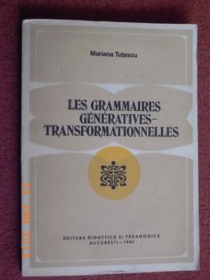 Les grammaires generatives-transformationnelles - Mariana Tutescu foto