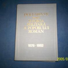 DOCUMENTE PRIVIND ISTORIA MILITARA A POPORULUI ROMAN 1878-1882