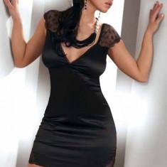 Camasa de noapte Evita, Livia Corsetti, Marime: S, M, Culoare: Negru, Chemise