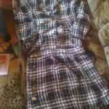 Costum din tricot - Costum dama, Marime: S/M, Costum cu fusta