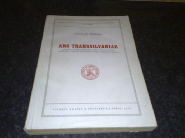 Coriolan Petranu - Ars Transsilvaniae - 1944 - in franceza