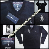 PULOVER BLEUMARIN BARBATI FIRMA POLO by RALPH LAUREN EXCLUSIVE ANCHIOR 100% LANA - Pulover barbati, Marime: M