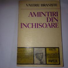 AMINTIRI DIN INCHISOARE - VALERIU BRANISTE, r38 - Biografie