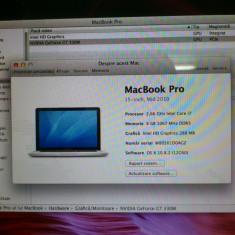 MacBook Pro (15-inch, Mid 2010) - Laptop Macbook Pro Apple, 15 inches, Intel Core i7, 4 GB