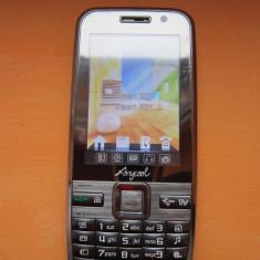 Telefon Anycool T55 - Telefon mobil Dual SIM, Argintiu, Neblocat, Dual SIM, 2.4'', Touchscreen+Taste