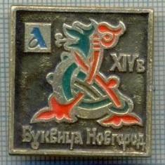 524 INSIGNA - NOVGOROD -URSS -scriere chirilica -starea care se vede