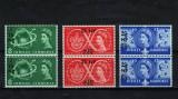 Colonii Britanice 1957 - Serie in perechi cu supratipar - MNH