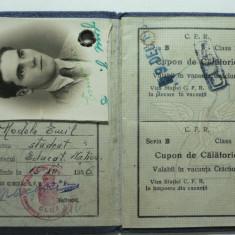 4 - CAILE FERATE ROMANE - CARNET DE IDENTITATE PENTRU ELEVI SI STUDENTI - GRATUITATI DE VACANTA CRACIUNULUI A PASTELUI SI VACANTA MARE - ANUL 1936 - Pasaport/Document