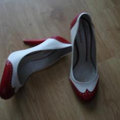 Pontofi BERSHKA - Pantof dama, Culoare: Alb, Marime: 39, Alb