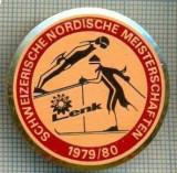 631 INSIGNA -SKI -SCHWEIZERISCHE NORDISCHE -MEISTERSCHAFTEN 1979/80 -starea care se vede