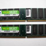 KIT Dual Channel 2 x 256mb=512mb DDR1 Corsair Values Select 400 PC3200 |K2| - Memorie RAM Corsair, 400 mhz