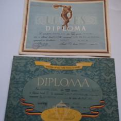 Lot 2 diplome sportive - popice 1959 si 1961 - Diploma/Certificat