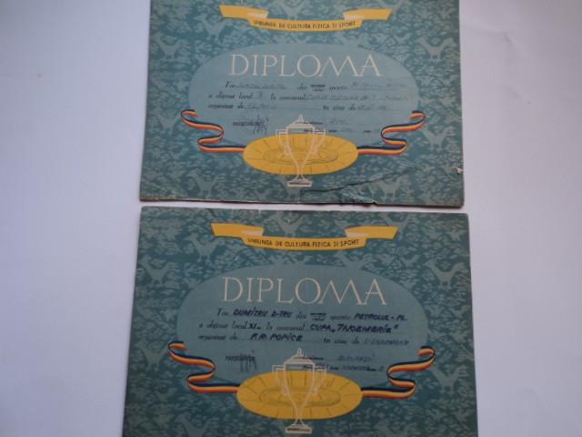 Lot 2 diplome concurs popice 1961