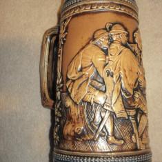 Superba HALBA de 1 litru din ceramica decorata manual (marca GERZ, Germania)